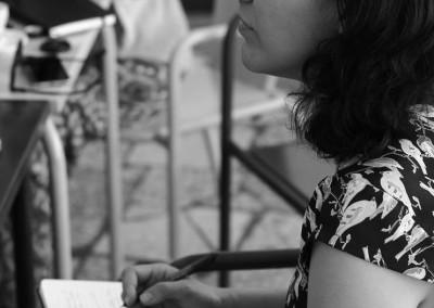 Marie writes and writes